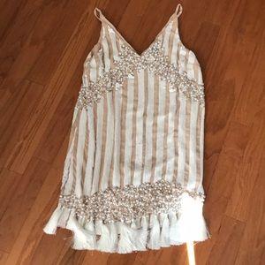 ASOS Sequin and Tassel Pearl Dress